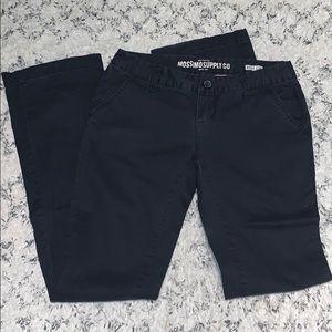 MOSSIMO — black boot cut pants